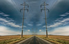 Outward Bound (Tau Zero) Tags: illinois bluesky powerlines countryroad prespective digitalmirror