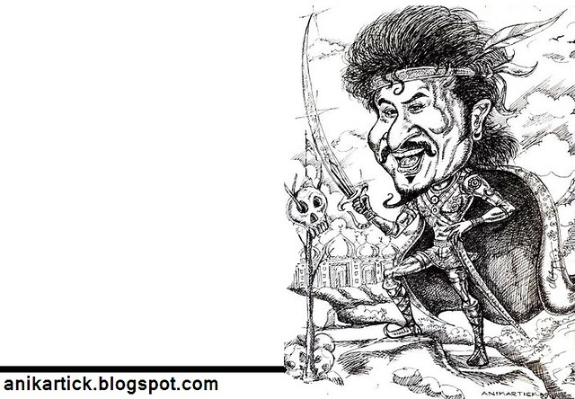 RAJINI - RAJINIKANTH - SUPERSTAR RAJINIKANTH - SIVAJI the BOSS - LINGAA the MASS - Art by Anikartick,Chennai,TamilNadu,India