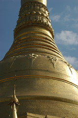 body of the pagoda (stupa) (cam17) Tags: shwedagon yangon burma stupa myanmar shwedagonpagoda rangoon shwedagonpaya goldbell lotuspetals goldpetals turbanband invertedalmsbowl