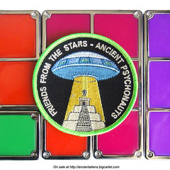 Ancient Psychonauts Patch (GN0S1CK) Tags: maya alien ufo aliens nasa burningman astronauts mayan spaceman patch badges psychedelic magicmushrooms edm cosmonaut extraterrestrial psychonaut psy ovni iwanttobelieve dmt otherworldly parche parches astronautas psyart ancientaliens ufotattoo gnosick alienpatch