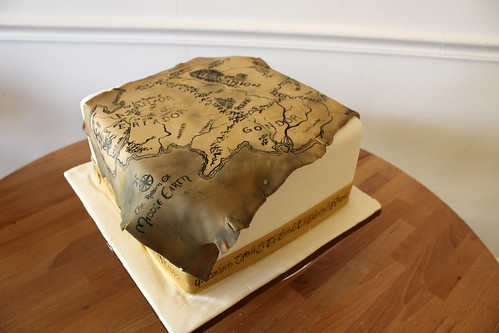 Lord of The Rings Map Cake
