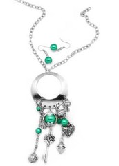 Glimpse of Malibu Green Necklace P2820A-1