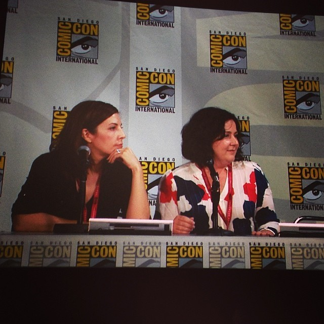 regram @agent_carter #AgentCarter Executive Producers Michelle Fazekas and Tara Butters at the #Marvel TV panel at #SDCC.