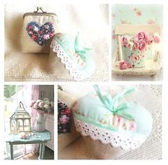 Carteirinha vintage e almofadinha de cheiro (AnnCrafts Artesanato) Tags: vintage pillow almofada carteiras alfazema vintagepurse almofadacheiro