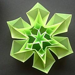 Snow crystal (modular.dodecahedron) Tags: origamistar toshikazukawasaki