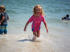 Maddie In The Ocean (Joe Shlabotnik) Tags: everett 2014 ocean madeleine jonesbeach june2014 beach 60225mm faved
