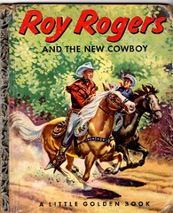 Roy Rogers & the New Cowboy (Calsidyrose) Tags: horse art television vintage movie children book design cowboy graphic ephemera hero western font americana childrensbook wildwest trigger royrogers tiein littlegoldenbook illustrationm