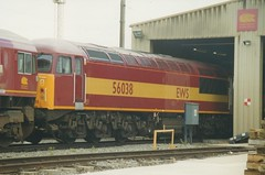 "English Welsh & Scottish Railways Class 56, 56038 (37190 ""Dalzell"") Tags: grid warrington brush revised ews class56 maroongold type5 englishwelshscottishrailways 56038 doncasterbuilt arpleydepot"