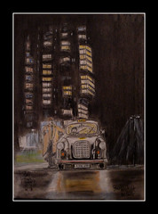 """ancoats fare. """" how much to eccles mate?"""" by broady 2015. (Broady - Salford art and photography) Tags: art illustration pencil manchester sketch artwork drawing pastel cab taxi picture salford blackcab eccles ancoats broady broadhurst alanhenning"""