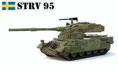 Stridsvagn 95 Heavy Tank (Matthew McCall) Tags: army war gun tank lego sweden military armor land vehicle heavy oscillating