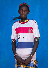Portrait of a hamer tribe man with bayern munich football shirt, Omo valley, Turmi, Ethiopia (Eric Lafforgue) Tags: africa portrait people color men vertical shirt outdoors photography necklace football colorful day adult african culture tribal teenager blackpeople omovalley ethiopia tribe ethnic tmobile oneperson hamer hornofafrica ethnology eastafrica bayernmunich abyssinia tribesman onepersononly realpeople blackskin lookingatcamera onemanonly waistup turmi africanethnicity 1people indigenousculture ethnicgroup oneadult blackethnicity modernityandtradition ethiopianethnicity giraffehair ethio161558