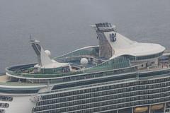 Arrival of a big cruise ship 13 (kmmanaka) Tags: japan nagasaki cruiseship fog rain harbor internationalterminal rose