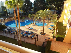 Early in the morning (Paranoid from suffolk) Tags: morning vacation holiday hotel early spain towels mallorca majorca palmanova 2016 balearics sunbeds aquasol