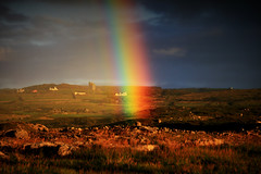 Just add leprechaun... (2c..) Tags: ireland light wild irish house castle nature way evening rainbow clare spectrum atlantic end burren celtic gettyimages cottages digitalwatermarked 2cimage 2c
