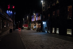 Royal Mile, Edinburgh at night (haywardk49) Tags: city people castle rock night dark lights scotland lowlight edinburgh raw nef hand yorkshire wideangle royalmile d750 handheld jpg held fullframe scotish listedbuilding