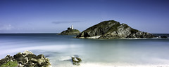Mumbles Lighthouse (Solent Poster) Tags: seascape swansea wales landscape long exposure pentax south may mumbles k3 2016 1685mm