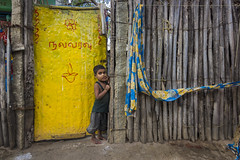 (Vilvesh) Tags: life travel boy people house colors yellow canon photography kid fisherman doors tamilnadu rameswaram cwc tokina1116mm chennaiweekendclickers travelwalk cwctravelwalk