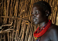 Toposa tribe woman with scarified face and red necklaces, Omo valley, Kangate, Ethiopia (Eric Lafforgue) Tags: africa red portrait people color horizontal outdoors necklace women day adult african traditional decoration jewelry tribal indoors bead omovalley ethiopia tribe sideview scar marking bizarre cultural scarification bodymodification oneperson adornment hornofafrica ethiopian eastafrica abyssinia traditionalclothing realpeople darkskin beadednecklace bume onewomanonly humanskin waistup 1people scarified africanculture toposa humanbodypart topossa kangate kangatan ngakaaly ethio161726