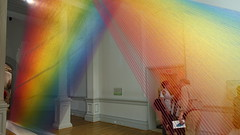 """Plexus A1"" (2015) by Gabriel Dawe at Renwick Gallery, Washington, D.C. (lhboudreau) Tags: art colors thread museum washingtondc smithsonian dc washington rainbow artwork gallery artgallery galleries pennsylvaniaavenue installation rainbows weaving threads lightrays artexhibition installations smithsonianinstitution weavings americanart largescale redyellowandblue artexhibitions smithsonianamericanartmuseum largescaleinstallation gabrieldawe plexusa1 largescaleinstallations"