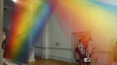 """Plexus A1"" (2015) by Gabriel Dawe at Renwick Gallery, Washington, D.C. (lhboudreau) Tags: art colors thread museum washingtondc smithsonian dc washington rainbow artwork gallery artgallery galleries pennsylvaniaavenue installation rainbows weaving threads lightrays artexhibition installations smithsonianinstitution weavings americanart largescale redyellowandblue artexhibitions smithsonianamericanartmuseum largescaleinstallation gabrieldawe plexusa1 largescaleinstallations"