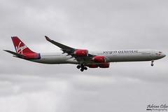 Virgin Atlantic Airways --- Airbus A340-600 --- G-VWIN (Drinu C) Tags: adrianciliaphotography sony dsc hx100v lhr egll plane aircraft aviation virginatlanticairways airbus a340600 gvwin a340 virgin virginatlantic