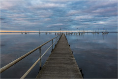 the pier (Pwa25) Tags: pier geelong boats water sunset victoria melbourne clouds pastel wood bay