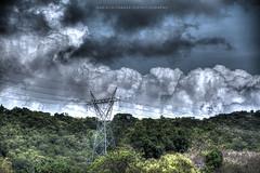 Electrical Line HDR (ariel gitana) Tags: mountain clouds philippines vigan paoay pagudpod ilocosnorte ilocossur meralco pinoyphotographer teampilipinas kapurpurawanrockformation landscapephilippines arielgitana