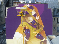 Inti : cration en cours (26 juin 2016) (Archi & Philou) Tags: streetart workinprogress wip inti madone paris13 paintedwall nacelle murpeint travailencours itinerrance