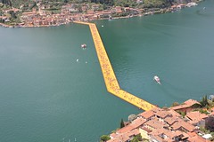 Christo and Jeanne-Claude: The Floating Piers Lago d'Iseo Italy (VernissageTV Didier Didier) Tags: italy art arte contemporaryart christoandjeanneclaude lagodiseo floatingpiers