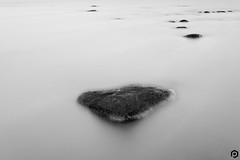 Milky Rocks (patviau) Tags: longexposure blackandwhite monochrome mono rockes water milky ottawa river fineart