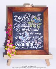 Birds & Bloom Chalkboard 1 (Nupur Creatives) Tags: heartfelt creations heartfeltcreations