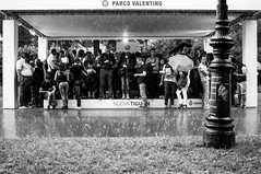 Wait (iSergioP) Tags: attesa parcodelvalentino pioggia rain 35mm torino street streetphotography biancoenero bn