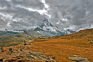 Stormy weather on the Matterhorn, no. 2577.