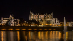 Palma cathedral (El.buitre) Tags: summer holiday church night spain cathedral nacht sommer urlaub kathedrale kirche mallorca palma spanien longtime langzeit a6000 samyang12mmf2