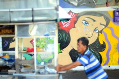 Kissed (aditsoetjipto) Tags: urban mural streetphotography streetlife indonesian splendid