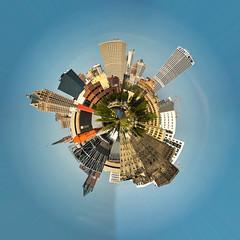 Milwaukee Skyline Spherical Panoramic (m2 Photo) Tags: milwaukee spherical panoramic