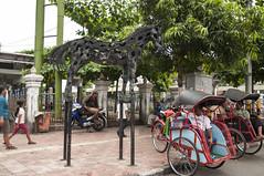 Street art (Sibel Pipa - Photography) Tags: street horse art statue indonesia java asia tricycle taxi jogja freetime drivers malioboro jogyakarta