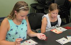 Natalie and Jocelyn (ACPL) Tags: fortwaynein acpl allencountypubliclibrary georgetown geo teenthursday bingo