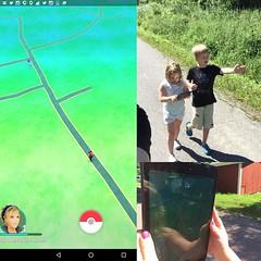 Ut o testade nya trenden #pokemongo #pokemongosuomi Hittade en pokestop :-) (Simon Lampenius) Tags: en ut o nya trenden hittade pokestop pokemongo testade pokemongosuomi