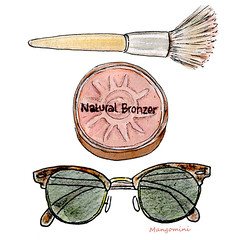 2015 Summer Essentials for Sparknotes.com (Cindy Mangomini) Tags: summer sunglasses illustration watercolor drawing makeup watercolour bronzer rayban handdrawn sparknotes summerstyle bronzing bronzingpowder sparklife summeressentials productillustration summerillustration mangomini makeupillustration summermusthaves cindymangomini
