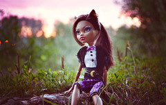 Moonflower (EliMalone) Tags: moon green nature monster toy outdoors rising evening high wolf doll sweet 1600 mattel clawdeen