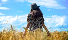 Happy Summer to all of my Filckrfriends!!! (Marie.L.Manzor) Tags: summer sun sky child girl children wheatfields meadow clouds nikon nikon610 nikkor marielmanzor nature landscape field candid gettyimage