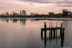 St. Kilda Pier (geravillag) Tags: melbourne australia victoria landscape pier city sunrise warmcolors splittone water bay canon eos750d rebelt6i