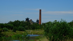 Pleasley Pit (Lee M Wyatt) Tags: chimney house nature wheel buildings mine derbyshire engine reserve pit mining winding local coal colliery pleasley headreag