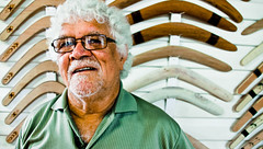 Laddie Timbery (ABC Open South Coast and Tablelands) Tags: art sarah tin moss open laddie huts abc aboriginal boomerang laddy huskisson kooris timbery