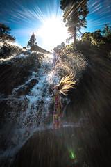20160625-Sun Falls --9 (napaeye) Tags: lake tahoe napaeye laketahoe waterfalls fallenleaflake lillylake california ca women hairflip