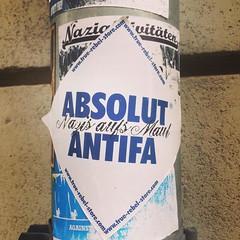 #neustadt #dresden #antifa (Kambor-Wiesenberg) Tags: instagramapp square squareformat iphoneography uploaded:by=instagram mayfair dresden sommerakademie 2016 neustadt antifa