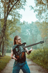 IMG_5414 (rodinaat) Tags: longhair longhairman longhairedman longhaired beard bearded metal metalhead powermetal trashmetal guitar musican guitarplayer brutal forest summer sun