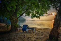 Paint the sky again! (Wajahat Mahmood) Tags: phangngabay thailand kphyao sunrise landscape beachchair hdr nikond810 googlenik beach andamansea dawn iso64