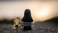 Watching sunset (Reiterlied) Tags: d5200 dslr girl gollum lego legography lordoftherings minifig minifigure nikon photography reiterlied spooky spookygirl stuckinplastic toy